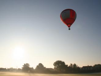 Oct 11- Balloon launched from the Sports Field - Jos Leeder